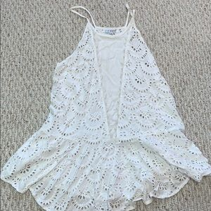 White Lace Swimsuit Coverup Dress